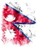 Nepal-Rauchflagge, Land in Südasien im Himalaja vektor abbildung