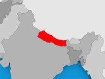 Map of Nepal Stock Photo