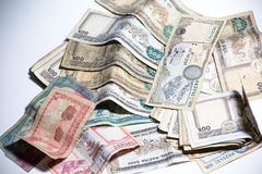 Nepal Rupee money. A pile of Nepal Rupee bank note . the currency used in Nepal Stock Photography