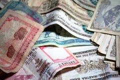 Nepal rupii pieniądze Obrazy Royalty Free