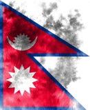 Nepal-Schmutzflagge, Land in Südasien im Himalaja vektor abbildung