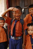 Nepal school kids Royalty Free Stock Image