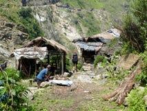 Nepal settlement near Tal village Stock Image