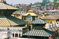 Nepal, Shiva Pashupatinath. Stock Foto's