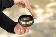 Nepal singing bowl Stock Photos
