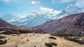 Nepal - Snow covered Mountains stock photography