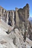 Nepal som trekking i Himalayas Vagga bildande på en höjd av 4000 metrar ovanför havsnivå Arkivbilder