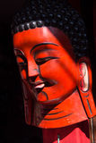 Nepal Souvenir wooden red masks Stock Photography