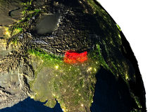 Nepal from space Stock Images