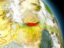 Nepal from space Royalty Free Stock Image