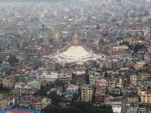 Nepal-Stadt im September 2017 Stockbild