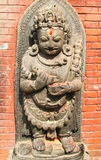 Nepal statues in temple Royalty Free Stock Photos