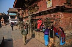Nepal streetscene Stock Photo