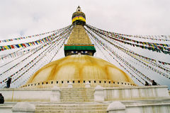 Nepal stupa fotografering för bildbyråer