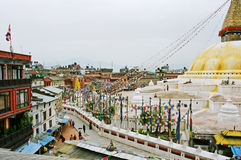 Nepal, stupa Bodhath. Stock Photography