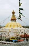Nepal, stupa Bodnath. Royalty-vrije Stock Afbeelding