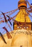 Nepal stupa dłoni Fotografia Royalty Free