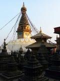 Nepal stupa. The fantastic eyes of Nepal Royalty Free Stock Photo