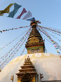 Nepal stupa. The fantastic and respectable stuba of Nepal Stock Photo