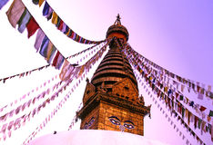 Nepal stupa Katmandu dłoni Zdjęcie Royalty Free