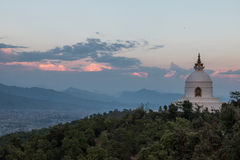 Nepal Stupa at Pokara Royalty Free Stock Photography