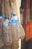 Nepal - 3 2017 Styczeń: ręcznie robiony bidon torba robić od sa Zdjęcie Royalty Free