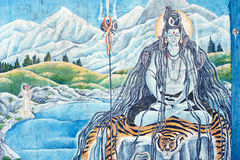 In Nepal, the temple wall murals Royalty Free Stock Photos