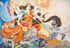 In Nepal, the temple wall murals Royalty Free Stock Images