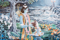 In Nepal, the temple wall murals Royalty Free Stock Photo