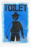Nepal toilet restroom wc man sign Royalty Free Stock Images