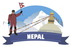Nepal. Tourism and travel. For you design Royalty Free Stock Images
