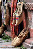 Nepal traditional slippers on display Royalty Free Stock Photography