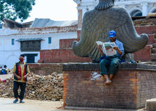 Nepal trzęsienia ziemi Zdjęcie Royalty Free