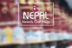 Nepal trzęsienia ziemi 2015 pomoc Obrazy Royalty Free
