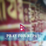 Nepal trzęsienia ziemi 2015 pomoc Obraz Royalty Free