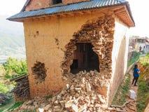 Nepal trzęsienie ziemi obraz stock