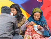Nepal trzęsienie ziemi w Kathmandu obrazy stock