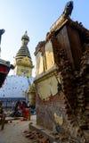 Nepal trzęsienia ziemi Zdjęcia Royalty Free