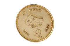 Nepal two rupee coin-1998 Royalty Free Stock Photos