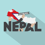 Nepal Typography Design Royalty Free Stock Images