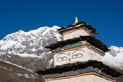 Nepal. Um almofariz. Imagem de Stock
