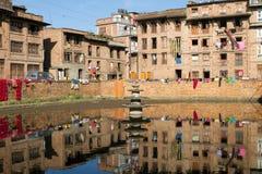 Nepal urban scene stock photo