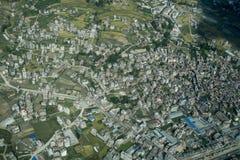 Nepal van vliegtuig Stock Foto's