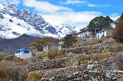 Nepal, the village of Phortse Tenga in the Himalayas, 3600 meters above sea level Stock Images