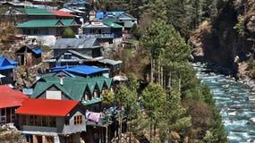 Nepal, Weise zu niedrigem Lager Everest stockfotos