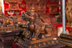 Nepal woodcarving. Art crafis culture Stock Image