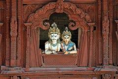 Nepalees Durbar-Vierkant Stock Foto's