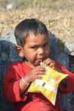 Nepalese boy Stock Images