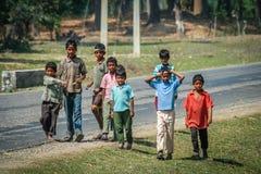 Nepalese boys Royalty Free Stock Photo