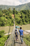 Nepalese bridge Royalty Free Stock Images